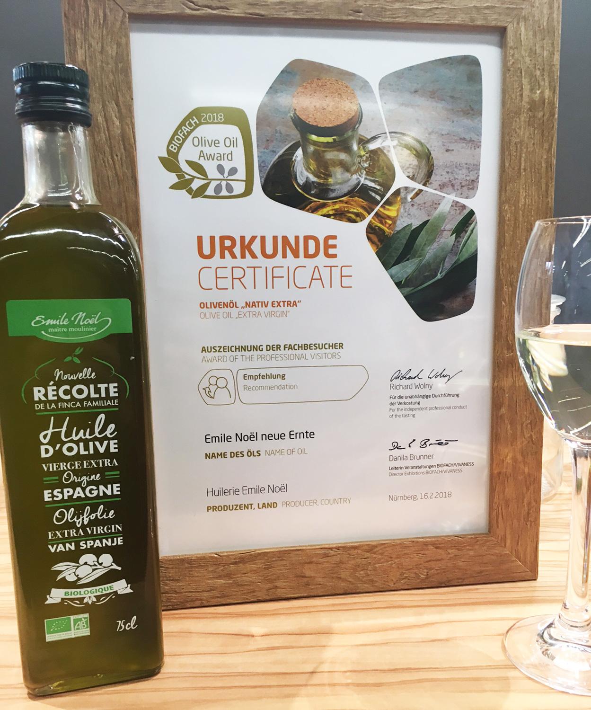 Actualité L'huile d'olive nouvelle récolte récompensée