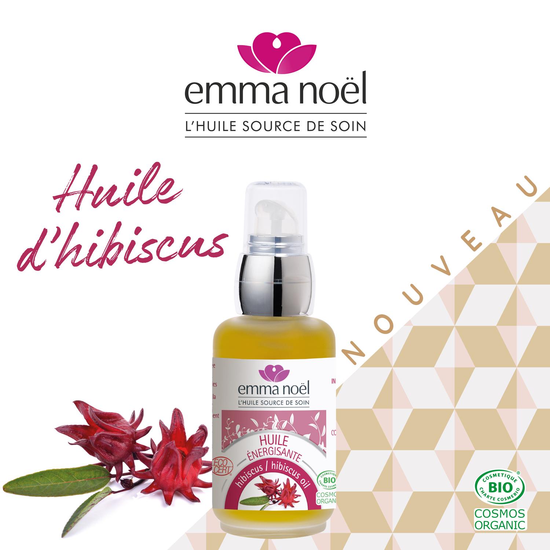 Actualité Groupe Emile nouveauté l'huile d'hibiscus Emma Noël