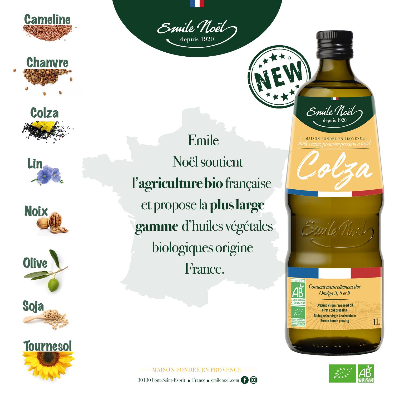 actualité nouvelle huile Emile Noel colza français