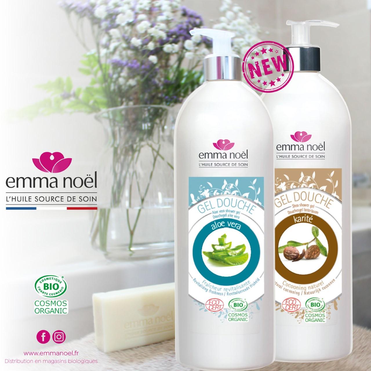 Actualité nouveaux gels douches Emma Noël